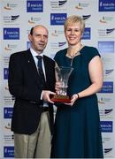 6 December 2017; Outstanding Coach Award winners Hayley & Drew Harrison during the Irish Life Health National Athletics Awards 2017 at Crowne Plaza in Santry, Dublin. Photo by Sam Barnes/Sportsfile