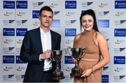 6 December 2017; Schools Athletes of the Year Christopher O'Donnell and Michaela Walsh during the Irish Life Health National Athletics Awards 2017 at Crowne Plaza in Santry, Dublin. Photo by Sam Barnes/Sportsfile