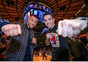 6 December 2017; Michael Conlan, right, and WBO Junior Lightweight Champion Vasyl Lomachenko in Madison Square Garden, New York, USA. Photo by Mikey Williams / Top Rank / Sportsfile