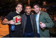 6 December 2017; Michael Conlan, left, WBO Junior Lightweight Champion Vasyl Lomachenko, centre, and Jamie Conlan, in Madison Square Garden, New York, USA. Photo by Mikey Williams / Top Rank / Sportsfile