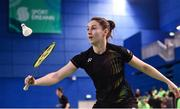7 December 2017; Chloe Magee of Ireland in action against Milosz Bochat and Aneta Wojtkowska of Poland during their Badminton Irish Open Mixed Doubles quarter-final match at the National Indoor Arena in Abbotstown, Dublin. Photo by David Fitzgerald/Sportsfile