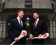 7 December 2017; In attendance at the official launch of Davy as sponsor of the Cuala Senior Hurling team is Cuala captain Paul Schutte and Tom Butler, Director, Davy Private Clients. This partnership will see Davy support the current All-Ireland, Leinster and Dublin champions in their continued pursuit of excellence. Photo by Sam Barnes/Sportsfile
