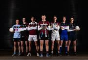 7 December 2017; Sigerson Cup teams representatives, from left, Conor McCarthy of UCD, James Guinness of Trinity College Dublin, Damien Comer of NUIG, Oisin O'Neill of St. Mary's University Belfast, Fintan O Cuanaigh of University of Limerick, Shane Dempsey of DIT, and Diarmuid O'Connor of DCU Dochas Eireann, in attendance at the Electric Ireland Higher Education GAA Senior Championships Launch and Draw at Croke Park in Dublin. Photo by Seb Daly/Sportsfile