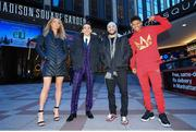 7 December 2017; Michael Conlan, second from left, with, from left, Mikaela Mayer, Christopher Diaz and Shakur Stevenson following a press conference at Madison Square Garden in New York, USA. Photo by Mikey Williams / Top Rank / Sportsfile