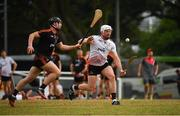 9 December 2017; Pádraic Maher of 2016 PwC All Star Team in action against Pauric Mahony of 2017 PwC All Star Team during the PwC All Star Tour 2017 - All Star Hurling game at the Singapore Recreation Club, The Pandang, in Singapore. Photo by Ray McManus/Sportsfile