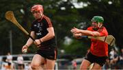 9 December 2017; Conor Whelan of 2017  PwC All Star Team in action against the 2016 PwC All Star Team golkeeper Eoin Murphy during the PwC All Star Tour 2017 - All Star Hurling game at the Singapore Recreation Club, The Pandang, in Singapore. Photo by Ray McManus/Sportsfile