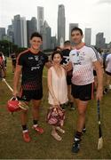 9 December 2017; Lee Chin of 2017 PwC All Star Team and former Offaly star Gary Hannify who played as a guest on the 2016 PwC All Star Team with Tan Ui Mhuicheartaigh after the PwC All Star Tour 2017 - All Star Hurling game at the Singapore Recreation Club, The Pandang, in Singapore. Photo by Ray McManus/Sportsfile