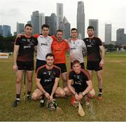 9 December 2017; Galway players Conor Cooney, Gearóid McInerney, Colm Callanan, Daithi Burke, Pádraic Mannion, David Burke and Conor Whelan who played on the 2016 PwC All Star Team and 2017 PwC All Star Team after the PwC All Star Tour 2017 - All Star Hurling game at the Singapore Recreation Club,   The Pandang, in Singapore. Photo by Ray McManus/Sportsfile