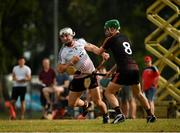 9 December 2017; Galway's Daithí Burke of 2016 PwC All Star Team in action against his Galway captain David Burke of 2017 PwC All Star Team during the PwC All Star Tour 2017 - All Star Hurling game at the Singapore Recreation Club, The Padang, in Singapore. Photo by Ray McManus/Sportsfile