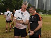 9 December 2017; The two managers Michael Ryan, left, of the 2016 PwC All Star Team and Liam Sheedy of the 2017 PwC All Star Team before the PwC All Star Tour 2017 - All Star Hurling game at the Singapore Recreation Club, The Padang, in Singapore. Photo by Ray McManus/Sportsfile