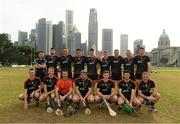 9 December 2017; The 2017 PwC All Star Team with referee Fergal Horgan before the PwC All Star Tour 2017 - All Star Hurling game at the Singapore Recreation Club, The Padang, in Singapore. Photo by Ray McManus/Sportsfile
