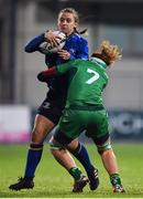9 December 2017; Michelle Claffey of Leinster is tackled by Grainne Egan of Connacht during the Women's Interprovincial Series match between Leinster and Connacht at Donnybrook Stadium in Dublin. Photo by David Fitzgerald/Sportsfile