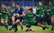 9 December 2017; Lindsay Peat of Leinster is tackled by Ciara O'Connor of Connacht during the Women's Interprovincial Series match between Leinster and Connacht at Donnybrook Stadium in Dublin. Photo by David Fitzgerald/Sportsfile