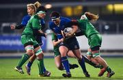 9 December 2017; Lindsay Peat of Leinster is tackled by Grainne Egan of Connacht during the Women's Interprovincial Series match between Leinster and Connacht at Donnybrook Stadium in Dublin. Photo by David Fitzgerald/Sportsfile