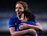 9 December 2017; Aoife McDermott, left, and Lindsay Peat of Leinster celebrate their side's victory following the Women's Interprovincial Series match between Leinster and Connacht at Donnybrook Stadium in Dublin. Photo by David Fitzgerald/Sportsfile