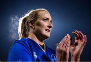 9 December 2017; Ciara Cooney of Leinster applauds the support following her side's victory following the Women's Interprovincial Series match between Leinster and Connacht at Donnybrook Stadium in Dublin. Photo by David Fitzgerald/Sportsfile