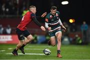9 December 2017; Jonny May of Leicester Tigers in action against Andrew Conway of Munster during the European Rugby Champions Cup Pool 4 Round 3 match between Munster and Leicester Tigers at Thomond Park in Limerick. Photo by Diarmuid Greene/Sportsfile