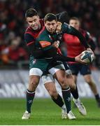 9 December 2017; Ben Youngs of Leicester Tigers is tackled by Conor Murray of Munster during the European Rugby Champions Cup Pool 4 Round 3 match between Munster and Leicester Tigers at Thomond Park in Limerick. Photo by Diarmuid Greene/Sportsfile
