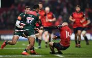 9 December 2017; Andrew Conway of Munster and Telusa Veainu of Leicester Tigers during the European Rugby Champions Cup Pool 4 Round 3 match between Munster and Leicester Tigers at Thomond Park in Limerick. Photo by Stephen McCarthy/Sportsfile
