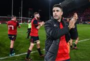 9 December 2017; Conor Murray of Munster applauds supporters after the European Rugby Champions Cup Pool 4 Round 3 match between Munster and Leicester Tigers at Thomond Park in Limerick. Photo by Diarmuid Greene/Sportsfile