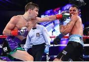 9 December 2017; Michael Conlan, left, in action against Luis Fernando Molina during their featherweight bout at The Theater at Madison Square Garden in New York, USA. Photo by Mikey Williams/Top Rank/Sportsfile