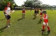 10 December 2017; Galway captain David Burke during a coaching session and end of season medal presentations at the Singapore Gaelic Lions GAA training session at The Grandstand, Turf Club Rd, Bukit Timah, Singapore  Photo by Ray McManus/Sportsfile