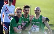10 December 2017; Sean Tobin, Hugh Armstrong and Kevin Maunsell of Ireland after competing in the Senior Men's event during the European Cross Country Championships 2017 at Samorin in Slovakia. Photo by Sam Barnes/Sportsfile