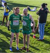 10 December 2017; Sean Tobin and Kevin Maunsell of Ireland after competing in the Senior Men's event during the European Cross Country Championships 2017 at Samorin in Slovakia. Photo by Sam Barnes/Sportsfile