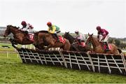 10 December 2017; A general view of the first lap during the Corinthian Restaurant On Sale Now Maiden Hurdle at Punchestown Racecourse in Naas, Co Kildare. Photo by Cody Glenn/Sportsfile
