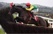 10 December 2017; Sizing John, with Robbie Power up, jump the last, on their way to winning the John Durkan Memorial Punchestown Steeplechase at Punchestown Racecourse in Naas, Co Kildare. Photo by Cody Glenn/Sportsfile