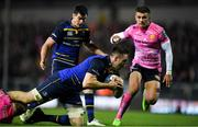 10 December 2017; Jack Conan of Leinster is tackled by Matt Kvesic of Exeter Chiefs during the European Rugby Champions Cup Pool 3 Round 3 match between Exeter Chiefs and Leinster at Sandy Park in Exeter, England.  Photo by Brendan Moran/Sportsfile