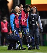 10 December 2017; Rhys Ruddock of Leinster leaves the pitch with an injury during the European Rugby Champions Cup Pool 3 Round 3 match between Exeter Chiefs and Leinster at Sandy Park in Exeter, England.  Photo by Brendan Moran/Sportsfile