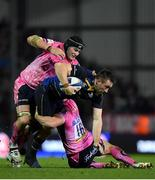 10 December 2017; Jack Conan of Leinster is tackled by Mitch Lees, left, and Jack Yeandle during the European Rugby Champions Cup Pool 3 Round 3 match between Exeter Chiefs and Leinster at Sandy Park in Exeter, England.  Photo by Brendan Moran/Sportsfile