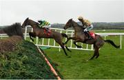 10 December 2017; Carlingford Lough, with Mark Walsh up, leads Shaneshill, with Patrick Mullins up, during their first time round during the John Durkan Memorial Punchestown Steeplechase at Punchestown Racecourse in Naas, Co Kildare. Photo by Cody Glenn/Sportsfile