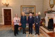 11 December 2017; Kathleen and Jim Roche are welcomed by the President of Ireland Michael D Higgins and his wife Sabina during the Dublin Senior Men's and Ladies Football squads visit to Áras an Uachtaráin in Phoenix Park, Dublin. Photo by Piaras Ó Mídheach/Sportsfile