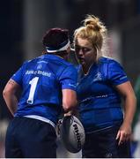 9 December 2017; Lindsay Peat, left, and Cliodhna Moloney of Leinster during the Women's Interprovincial Series match between Leinster and Connacht at Donnybrook Stadium in Dublin. Photo by David Fitzgerald/Sportsfile