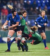 9 December 2017; Orla Fitzsimons of Leinster is tackled by Laura Feely and Grainne Egan of Connacht during the Women's Interprovincial Series match between Leinster and Connacht at Donnybrook Stadium in Dublin. Photo by David Fitzgerald/Sportsfile