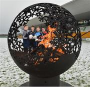 12 December 2017; Jonny Cooper of Dublin with, from left, Alan Mulhall of Offaly, Kevin Feely of Kildare, and Sean Gannon of Carlow at the launch of the Bord na Móna Leinster GAA series at Bord na Móna O'Connor Park, Tullamore, Co Offaly. The Bord na Móna Leinster Series comprises of the Bord na Móna O'Byrne Cup, Bord na Móna Walsh Cup and the Bord na Móna Kehoe Cup. Photo by Matt Browne/Sportsfile
