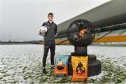 12 December 2017; Kevin Feely of Kildare at the launch of the Bord na Móna Leinster GAA series at Bord na Móna O'Connor Park, Tullamore, Co Offaly. The Bord na Móna Leinster Series comprises of the Bord na Móna O'Byrne Cup, Bord na Móna Walsh Cup and the Bord na Móna Kehoe Cup. Photo by Matt Browne/Sportsfile