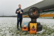 12 December 2017; Alan Mulhall of Offaly at the launch of the Bord na Móna Leinster GAA series at Bord na Móna O'Connor Park, Tullamore, Co Offaly. The Bord na Móna Leinster Series comprises of the Bord na Móna O'Byrne Cup, Bord na Móna Walsh Cup and the Bord na Móna Kehoe Cup. Photo by Matt Browne/Sportsfile