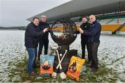 12 December 2017; Wexford manager Davy Fitzgerald, left, with, from left, Offaly Manager Kevin Martin, Kilkenny selector Derek Lyng and Dublin selector and coach Anthony Cunningham at the launch of the Bord na Móna Leinster GAA series at Bord na Móna O'Connor Park, Tullamore, Co Offaly. The Bord na Móna Leinster Series comprises of the Bord na Móna O'Byrne Cup, Bord na Móna Walsh Cup and the Bord na Móna Kehoe Cup. Photo by Matt Browne/Sportsfile