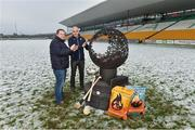 12 December 2017; Wexford manager Davy Fitzgerald, left, with Dublin selector and coach Anthony Cunningham at the launch of the Bord na Móna Leinster GAA series at Bord na Móna O'Connor Park, Tullamore, Co Offaly. The Bord na Móna Leinster Series comprises of the Bord na Móna O'Byrne Cup, Bord na Móna Walsh Cup and the Bord na Móna Kehoe Cup. Photo by Matt Browne/Sportsfile