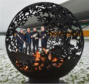 12 December 2017; Kilkenny selector Derek Lyng with, from left, Wexford manager Davy Fitzgerald, Dublin selector and coach Anthony Cunningham and Offaly Manager Kevin Martin at the launch of the Bord na Móna Leinster GAA series at Bord na Móna O'Connor Park, Tullamore, Co Offaly. The Bord na Móna Leinster Series comprises of the Bord na Móna O'Byrne Cup, Bord na Móna Walsh Cup and the Bord na Móna Kehoe Cup. Photo by Matt Browne/Sportsfile