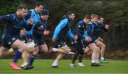 13 December 2017; Leinster players including, from left, Cian Healy, James Ryan, Tadhg Furlong, Robbie Henshaw, Garry Ringrose, James Tracy, Dave Kearney during rugby squad training at UCD in Dublin. Photo by Brendan Moran/Sportsfile