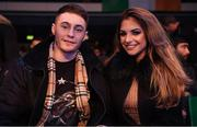 13 December 2017; Boxer Ryan Burnett in attendance with his fiancee Lara Milner at York Hall prior to the WBA Lightweight World Title fight between Katie Taylor and Jessica McCaskill at York Hall in London, England. Photo by Stephen McCarthy/Sportsfile