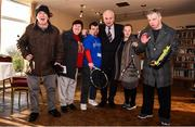 14 December 2017; Minister of State for Disability Issues Finian McGrath T.D., centre, pictured with, from left, Bryan Murray, Patricia Morrisey, Noel Brady, Denise Hosford and Mark Ennis during his visit to Sutton Tennis Club and the Enjoy Tennis programme. Tennis Ireland were recently awarded a €28,000 grant to support the Enjoy Tennis Programme, which operates at 65 clubs around the country and involves over 800 participants. Tennis Ireland also recently won best national governing body at the CARA National Inclusion Awards. Photo by Sam Barnes/Sportsfile