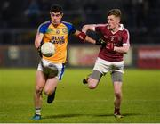 11 November 2017; Stephen McBrearty of Kilcar in action against Paul McNeill of Slaughtneil during the AIB Ulster GAA Football Senior Club Championship Semi-Final match between Kilcar and Slaughtneil at Healy Park in Omagh, Tyrone. Photo by Oliver McVeigh/Sportsfile