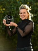 15 December 2017; Fiona McHale of Carnacon with her Player of the Month Award for December at The Croke Park Hotel in Dublin. Photo by Matt Browne/Sportsfile