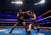 13 December 2017; Katie Taylor, right, and Jessica McCaskill during their WBA Lightweight World Title fight at York Hall in London, England. Photo by Stephen McCarthy/Sportsfile