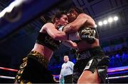 13 December 2017; Katie Taylor, left, and Jessica McCaskill during their WBA Lightweight World Title fight at York Hall in London, England. Photo by Stephen McCarthy/Sportsfile